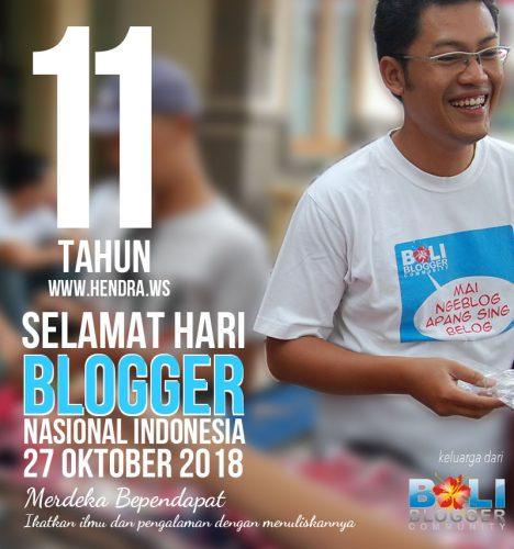 Hari Blogger Nasional 2018