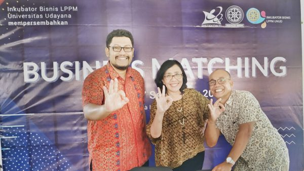 Sutrisna Dewi di Business Matching INBIS Universitas Udayana