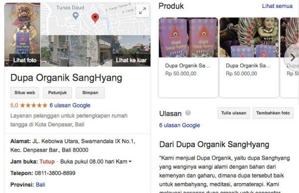 Google Bisnisku Dupa Organis SangHyang