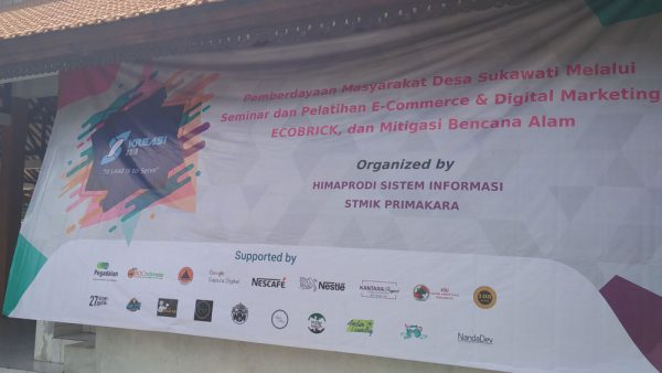 Spanduk Seminar Internet marketing untuk Desa Sukawati - Bali