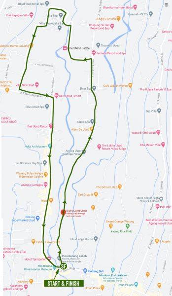 Peta ke Bukit Cinta Campuhan Ubud