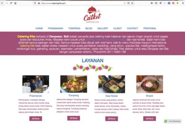 Website Catering Kita Bali